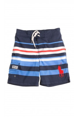 Swim shorts with blue-and-white stripes, Polo Ralph Lauren