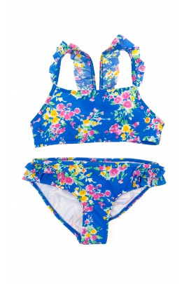Blue flowery swimsuit, Polo Ralph Lauren