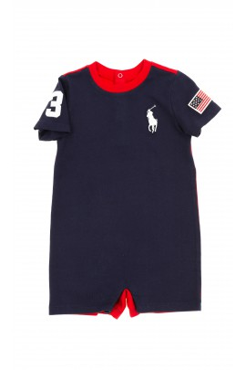 Navy blue boy rompers, Polo Ralph Lauren