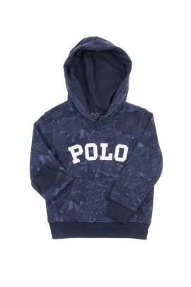Navy blue girl hoodie, Polo Ralph Lauren