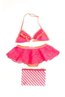 Pink and orange swimsuit, Billieblush