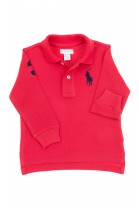 Red long sleeved boy polo shirt, Polo Ralph Lauren