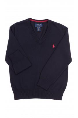 Navy blue V-neck sweater, Polo Ralph Lauren