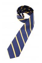 Navy blue tie with golden diagonal stripes, Polo Ralph Lauren