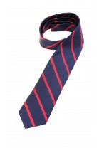 Navy blue tie with red diagonal stripes, Polo Ralph Lauren