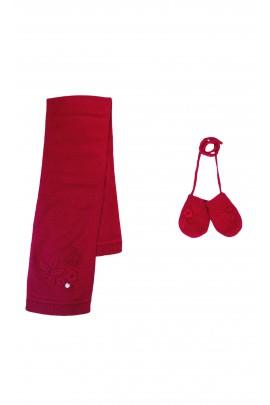 Red set: scarf + mittens, Tartine et Chocolat