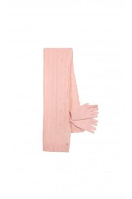 Pink set: scarf + mittens, Tartine et Chocolat