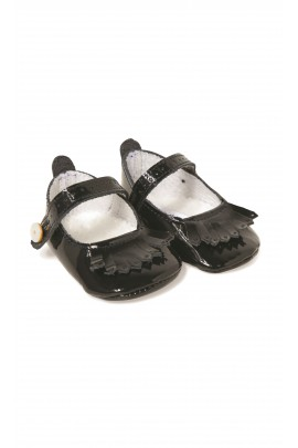 Navy blue baby patent leather shoes, Tartine et Chocolat