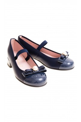 Navy blue heeled pumps, Pretty Ballerinas