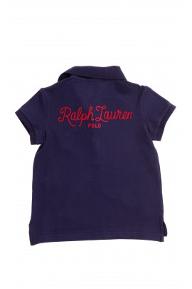 Navy blue girl polo shirt, Polo Ralph Lauren