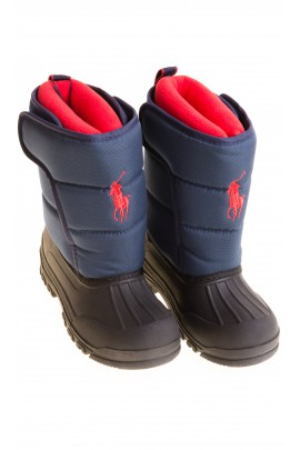 Navy blue snow boots, Polo Ralph Lauren