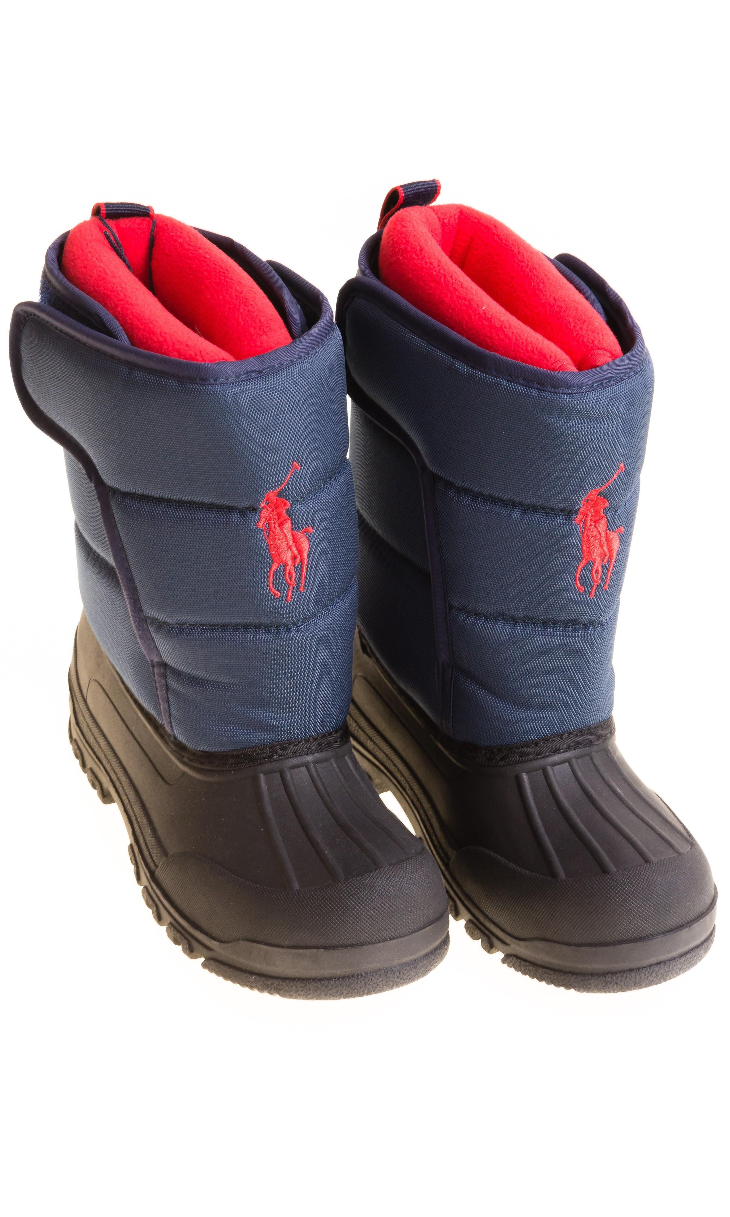 Navy blue snow boots, Polo Ralph Lauren