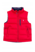 Double-sided red and navy blue gilet, Polo Ralph Lauren