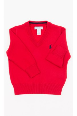 Red V-neck sweater, Polo Ralph Lauren