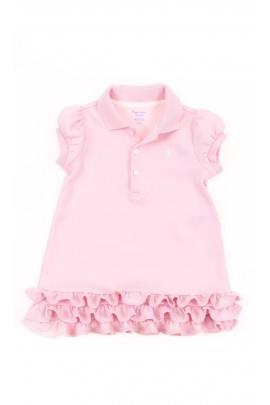 Powder baby dress with a collar, Polo Ralph Lauren