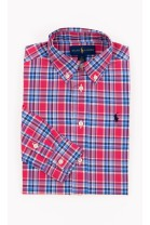 Boy shirt checked pink-and-blue, Polo Ralph Lauren