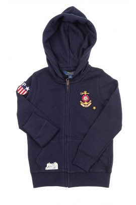 Navy blue girl hoodie, Polo Ralph Lauren