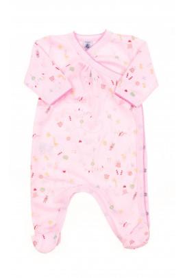 Pink baby sleepers, Petit Bateau