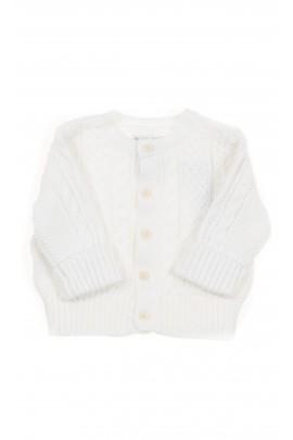 White baby cardigan, Polo Ralph Lauren