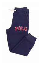 Navy blue sweatpants with large red inscription POLO, Polo Ralph Lauren