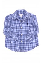 Blue fine-checked shirt, Polo Ralph Lauren