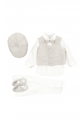 Boy 4-piece set for the baptism, Colorichiari