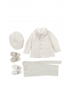 Boy 5-piece beige suit for the baptism, Colorichiari