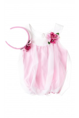 Tulle pink girl top, Lesy