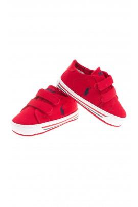 Red baby plimsolls, Polo Ralph Lauren