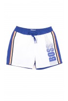 White-and-blue swim shorts, Hugo Boss