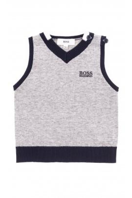 Knitted grey baby vest, Hugo Boss