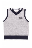 Knitted grey baby vest, Hugo Boss