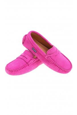 Suede pink moccasins, Atlanta Mocassin