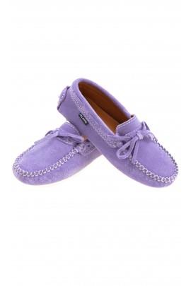Suede purple moccasins, Atlanta Mocassin
