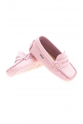 Pink baby moccasins, Atlanta Mocassin