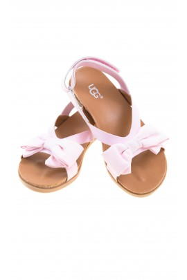 Pink girl sandals with velcro at the heel, UGG
