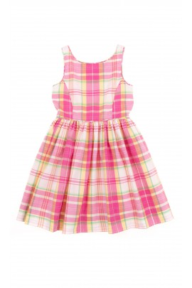 Dress with straps checked in colours, Polo Ralph Lauren