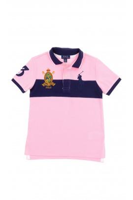 Navy blue and pink boy polo shirt, Polo Ralph Lauren