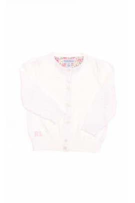 White baby cardigan, Polo Ralph Lauren