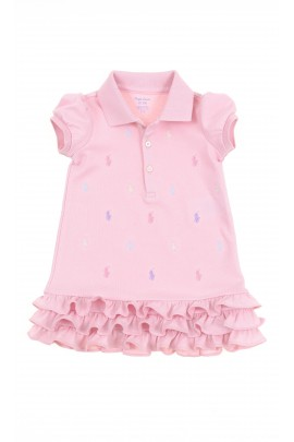 Pink baby dress with little horses, Polo Ralph Lauren