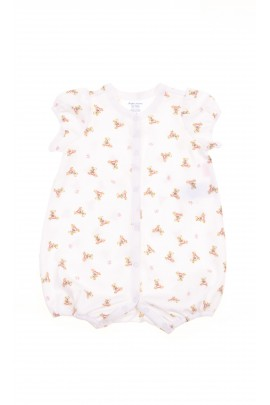 White baby rompers with teddy bears, Polo Ralph Lauren