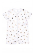 White baby rompers with beige teddy bears, Polo Ralph Lauren