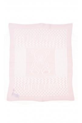 Pink openwork cover-blanket, Polo Ralph Lauren