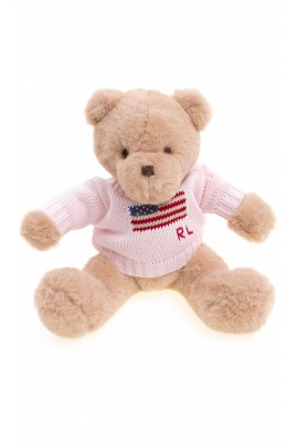 Teddy bear in pink sweater, Polo Ralph Lauren
