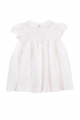 White baby dress for special occasions, Ferrari Mariella
