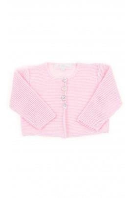 Pink short baby cardigan, Ferrari Mariella