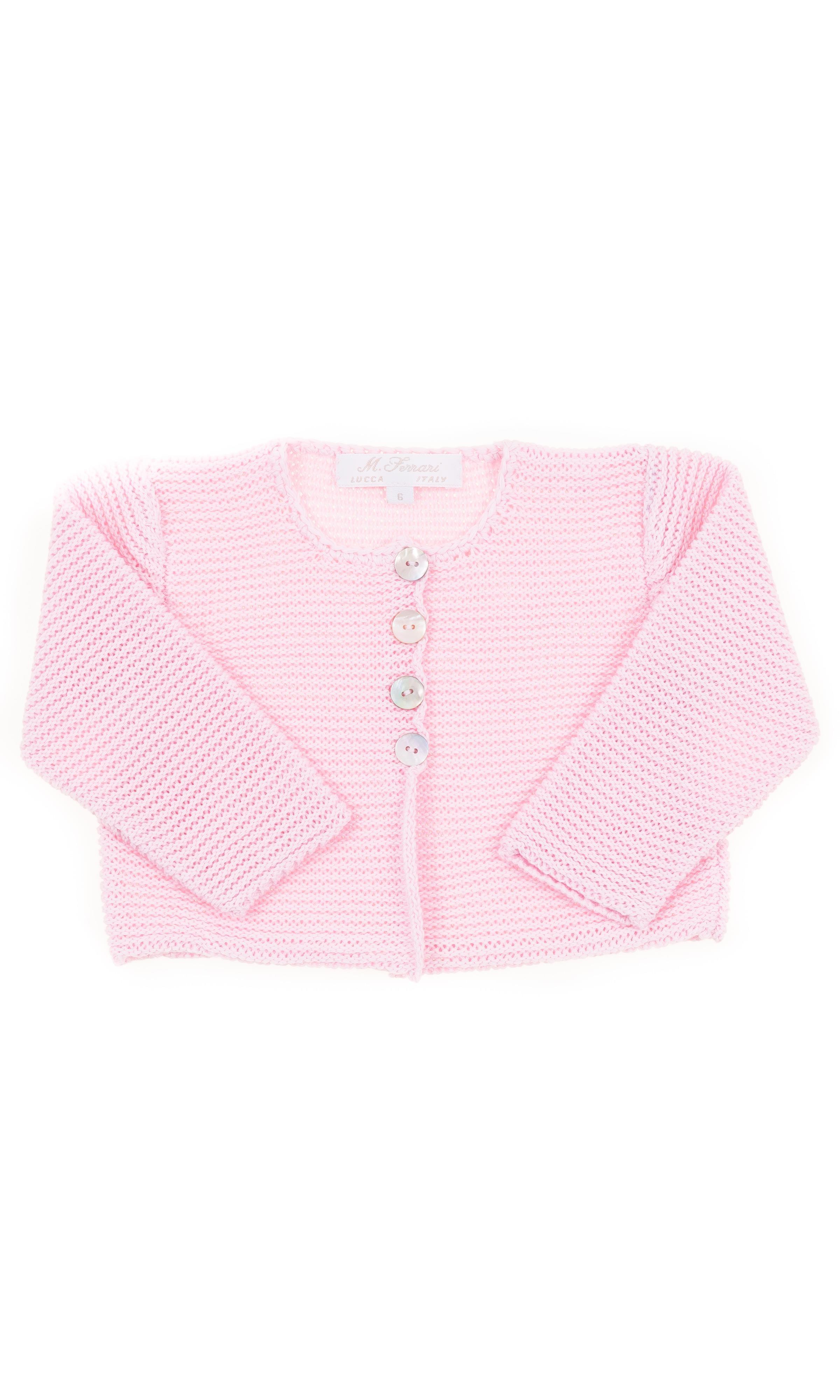 Pink Short Baby Cardigan Ferrari Mariella Celebrity Club