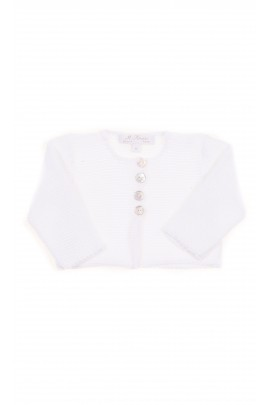 White short baby cardigan, Ferrari Mariella