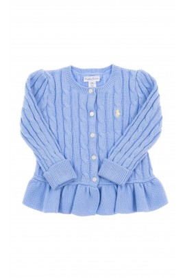 Blue cardigan braid weave, Polo Ralph Lauren