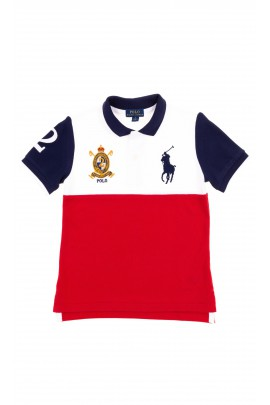 White-and-red boys polo shirt, Polo Ralph Lauren